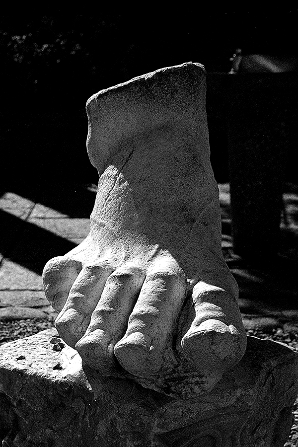 Carved Stone Foot