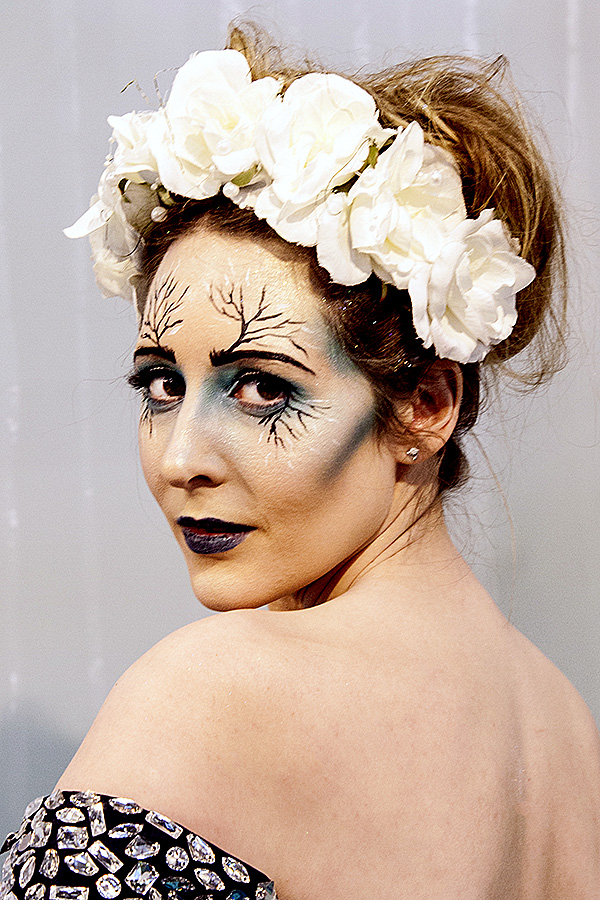 Here's a flower fairy I met recently. Quite a make up job, I think you'll agree.